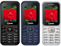 Snexian Guru 310 Combo of Three Mobiles(White, Blue, Black)