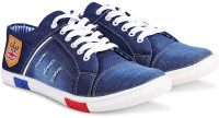 Red Rose Sneakers For Men(Blue)