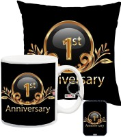 ME&YOU Gift For Anniversary, Anniversary Gifts for Father, Mother, Husband, Wife, Brother, Sister, Friends Printed IZ18SRCMK-2392 Cushion, Mug, Keychain Gift Set