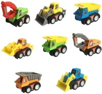 Baby Tintin Mini Plastic Pull-Back And Go Car Model Toy - Multi Color(Multicolor)