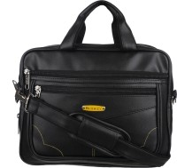 Blowzy 14 inch Expandable Laptop Messenger Bag(Black)