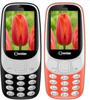 Snexian 3310 Carving Combo of Two Mobiles(Black, Red)