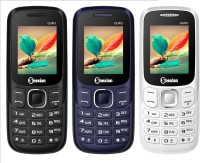 Snexian Guru Plus 312 Combo of Three Mobiles(White, Blue, Black)