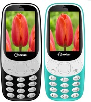Snexian 3310 Carving Combo of Two Mobiles(Black, Sky Blue)