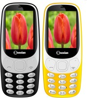 Snexian 3310 Carving Combo of Two Mobiles(Black, Yellow)