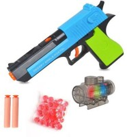 TALKING GANESHA 2 in 1 Desert Eagle Toy Gun with Jelly Shots, Soft Foam Bullets & LED Lights - Multi Color(Multicolor)