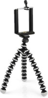 eDUST Universal, Flexible, Light Weight Mobile Phone Tripod Stand 360 Degree Rotational Foldable Tripod(Black and white, Supports Up to 700 g)