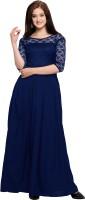 Fashion2wear Women's Maxi Blue Dress