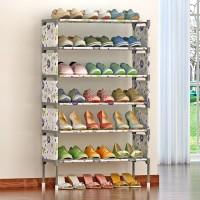 Furn Central Metal Shoe Stand(6 Shelves)