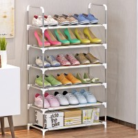 Furn Central Stainless Steel Shoe Stand(6 Shelves)