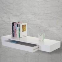 all crafts art drawer shelf MDF (Medium Density Fiber) Wall Shelf(Number of Shelves - 1, White)