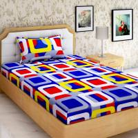 Home Elite 144 TC Cotton Single Geometric Bedsheet