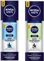 Nivea Men Duo Active Fresh and Summer Fresh Body Deodorizer 100ML Each (Pack of 2) Deodorant Spray  -  For Men(200 ml, Pack of 2)