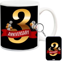 ME&YOU Gift For Anniversary, Anniversary Gifts for Father, Mother, Husband, Wife, Brother, Sister, Friends Printed IZ18SRMK-2355 Mug, Keychain Gift Set