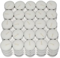 Kala Decorators Smokeless Tea Light Candle(Pack of 50 Pcs ) (Paraffin Wax )for Wedding,Festival,Party Candle(White, Pack of 50)