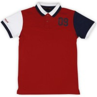 Provogue Boy's Solid Cotton T Shirt(Red, Pack of 1)