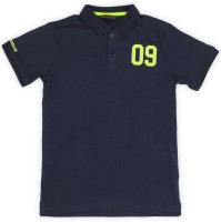 Provogue Boys Solid Cotton T Shirt(Dark Blue, Pack of 1)