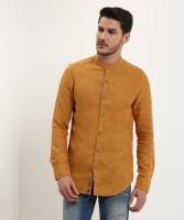 Spykar Men's Solid Casual Orange Shirt