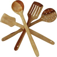 QUBIFT Wooden Spatula(Pack of 4)