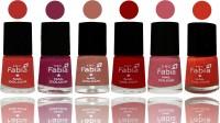 SMC FABIA Longest Lasting Ever Nail Polish Set ( Candy Orange::Dark Magenta::Coral::Red::Coral Pink ::Orange )
