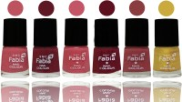 SMC FABIA Longest Lasting Ever Nail Polish Set ( Coral Pink ::Jam::Light Pink::Maroon::Dark Nude::Mattis gold )