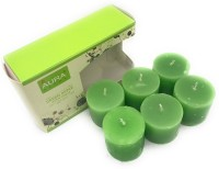 AuraDecor Set of 6 Votive Green Apple Fragrance Candle(Green, Pack of 6)