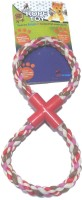 Super Dog Pull Rope Toy Large Double Ring Cotton, Plastic Tug Toy For Dog