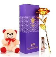 HOMOKART BEST COMBO TO GIFT , BEST FOR GIRLFRIEND Soft Toy, Artificial Flower, Message Pills Gift Set