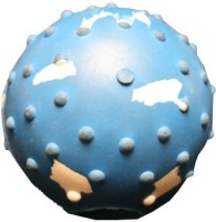 Love N Care Studded Ball with Bell - 7.5 cm Rubber Ball For Dog
