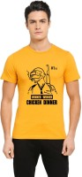 HIPSTER APPARELS Graphic Print Men & Women Round Neck Yellow T-Shirt