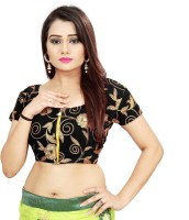 ARSHIMPEX Velvet Embroidered Blouse Material(Unstitched)