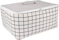 HomeStorie Wardrobe Organizer Cloth & Blanket Storage Bag, Large 52 x 43 x 25 cm, Grey(Grey)