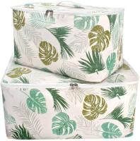 HomeStorie Wardrobe Organizer Cloth & Blanket Storage Bag, Set of 2, Medium & Large(Multicolor)