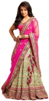 Magneitta Embroidered Bollywood Georgette Saree(Pink)