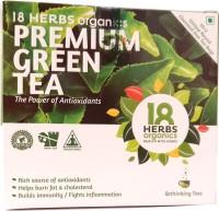 18 Herbs Premium Green Tea Unflavoured Green Tea Bags(15 g, Drum)