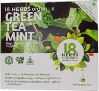 18 Herbs Green Tea with Mint Mint Green Tea Bags(22 g, Drum)