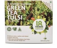 18 Herbs Green Tea with Tulsi Tulsi Green Tea Bags(22 g, Drum)