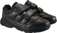 Action Boys & Girls Velcro Walking Shoes(Black)