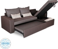 Sofame Rio Double Sofa Sectional Bed(Finish Color - Brown Mechanism Type - Pull Out)