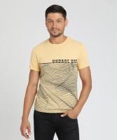 Blackberrys Printed Men's Round Neck Orange T-Shirt