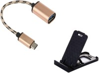 OLECTRA Prime series of type c otg cable and mini mobile stand. USB Adapter(Multicolor)