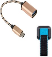 Statusbright Prime series of type c otg cable with UNIVERSAL GRIP FINGER Mobile Holder. USB Adapter(Multicolor)