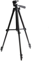 Eloies 3120 Professional Tripod for DSLR Cameras and Mobile Phones Videography & Photography, 1050 mm Tall Tripod(Black, Supports Up to 2500)