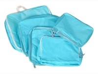 House of Quirk Set of 5 Home and Travel Storage Bag Packing Cubes Most Helpful Packing Organizers - Blue(Blue)