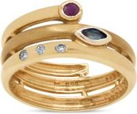 RAKAM Cubic Zirconia, Ruby, Sapphire Yellow Gold ring
