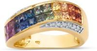 RAKAM 18kt Sapphire, Diamond Yellow Gold ring