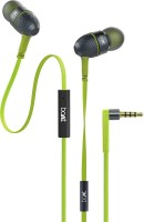boAt BassHeads 220 Super Extra Bass Wired Headset with Mic(Neon Lime, In the Ear)