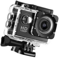 ALONZO 1080P Action Camera 2-inch LCD 170 Degree Wide Angle Lens Sports and Action Camera(Black, 12 MP)