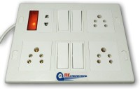 RK ENGINEERING Extension Board 1200W 4 Outlets sockets 6 Amp with individual control 5 meter long cable suitable for laptop computer desktop LED LCD iron refrigerator washing machine mixer grinder table fan UPS RO water purifier table fan fish tank desert cooler printer table lamp drill machine mic