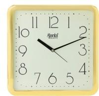 Ajanta Analog 24 cm X 24 cm Wall Clock(Gold, With Glass)